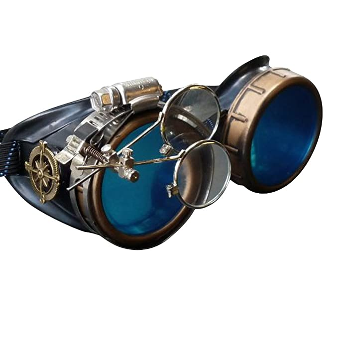 Men's Steampunk Clothing, Costumes, Fashion Steampunk Victorian Goggles welding Glasses diesel punk--gcg $24.99 AT vintagedancer.com