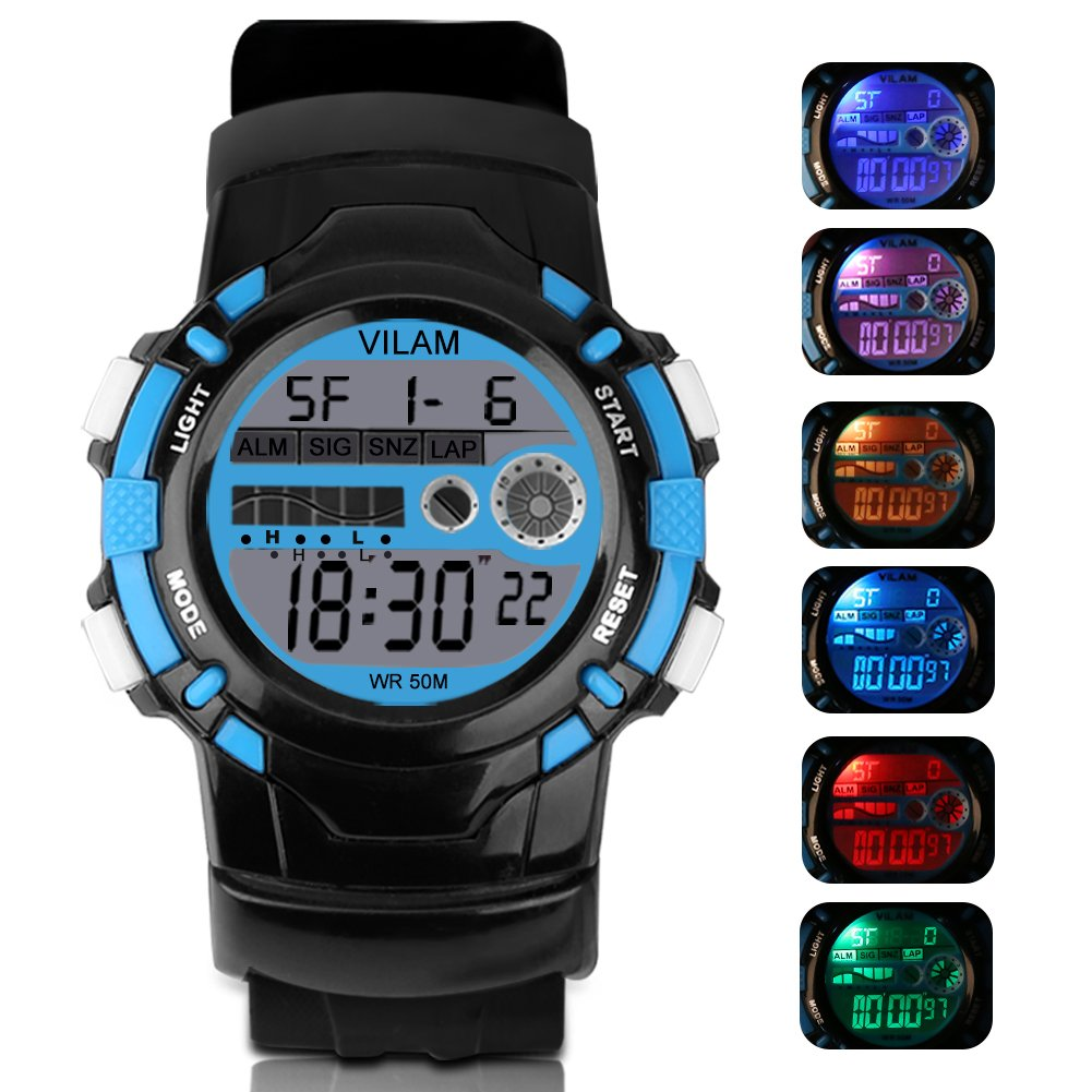 Multi-functional Digital Display Sport Outdoor Watch Waterproof Electronic Led Wristwatch Watches