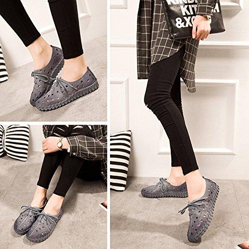 DULEE - Sandalias deportivas de Piel para mujer gris