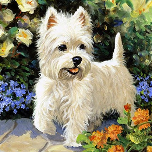 OneHippo 5D Drilled Resin Diamond Painting Needlework Diy Diamond Painting Cross Stitch Diamond Craft Dog (30x30)CM