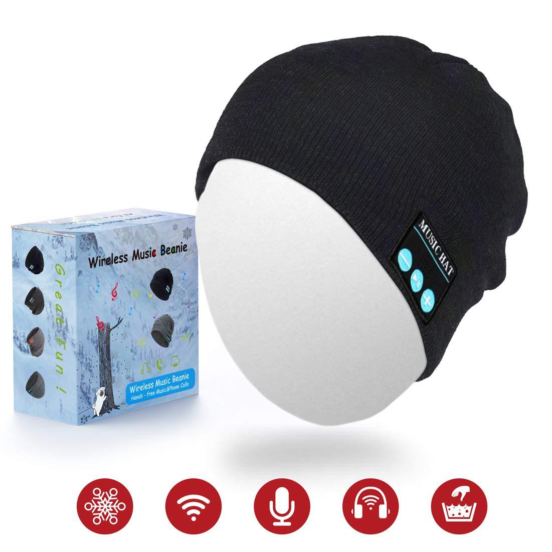 0daef8770 Humenn Bluetooth Beanie Hat, Wireless Smart Headphone Premium Knit Cap with  Speaker & Mic, Unisex Headset Musical Cap for Outdoor Sports - Cool Beanie  ...