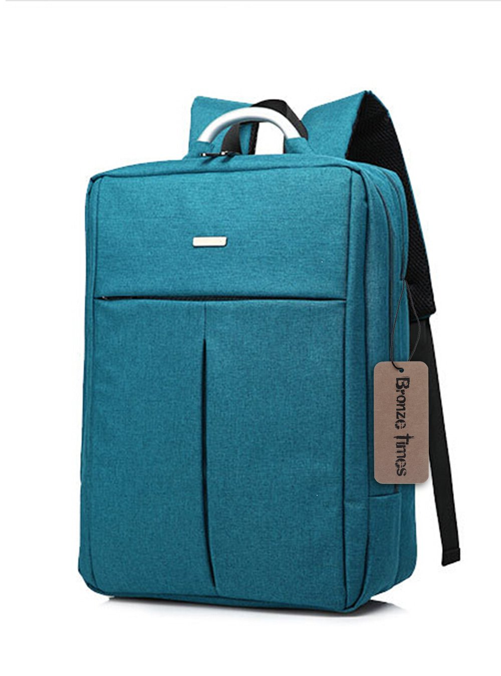 Bronze Times (TM) Unisex 14 inch T-shape Top Canvas Busniess Travel Computer Backpack (B-Blue)