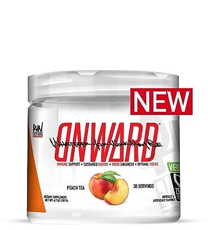 Onward by Run Everything Labs 30 Servings Immune Support, SUSTAINED Energy, Mood Enhancer Optimal Focus Peach Tea