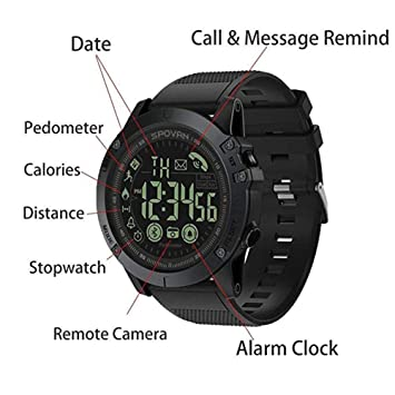 T1 Tact Mens Digital Sports Talking Watch Waterproof Outdoor Military Grade Super Tough Pedometer Calorie Counter Multifunction Bluetooth Smart Watch ...