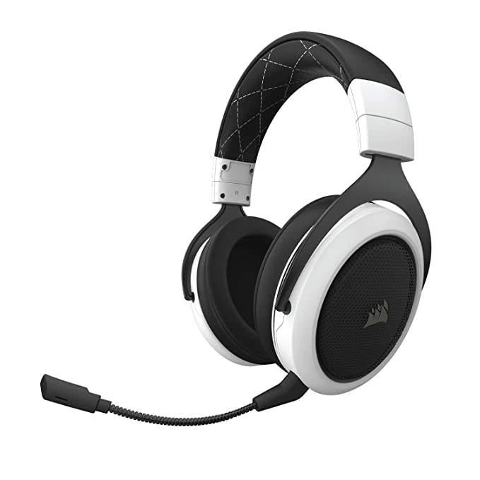 Corsair CA 9011177 AP HS70 7.1 Surround Sound Wireless Gaming Headset  White  PC Headsets