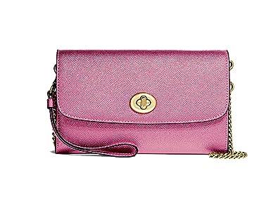 26db22dd63a Coach Metallic Leather Chain Crossbody Purse - #F22828: Handbags ...