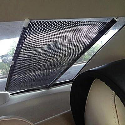 Elecrelive Retractable Sun Shade Roller Car Curtain Auto Curtain Shade Cover Sun Shield Visor Sun-shading Curtain Black 58x125cm