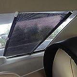 Car Curtains Elecrelive Retractable Sun Shade Roller Car Curtain Auto Curtain Shade Cover Sun Shield Visor Sun-shading Curtain Black 58x125cm