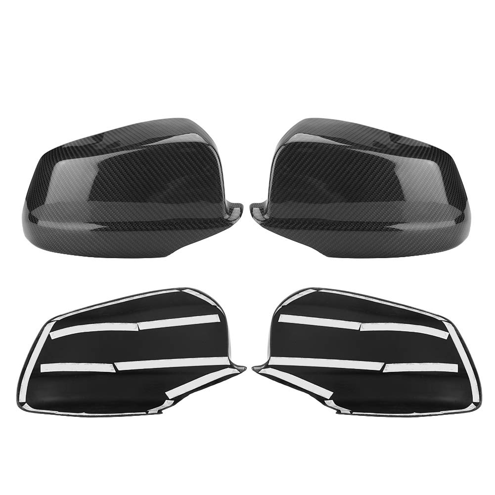 KIMISS 1 Pair of Carbon Fiber Rear View Mirror Cover for BMW 5 Series F10/F11/F18 Pre-LCI 11-13 by KIMISS (Image #5)
