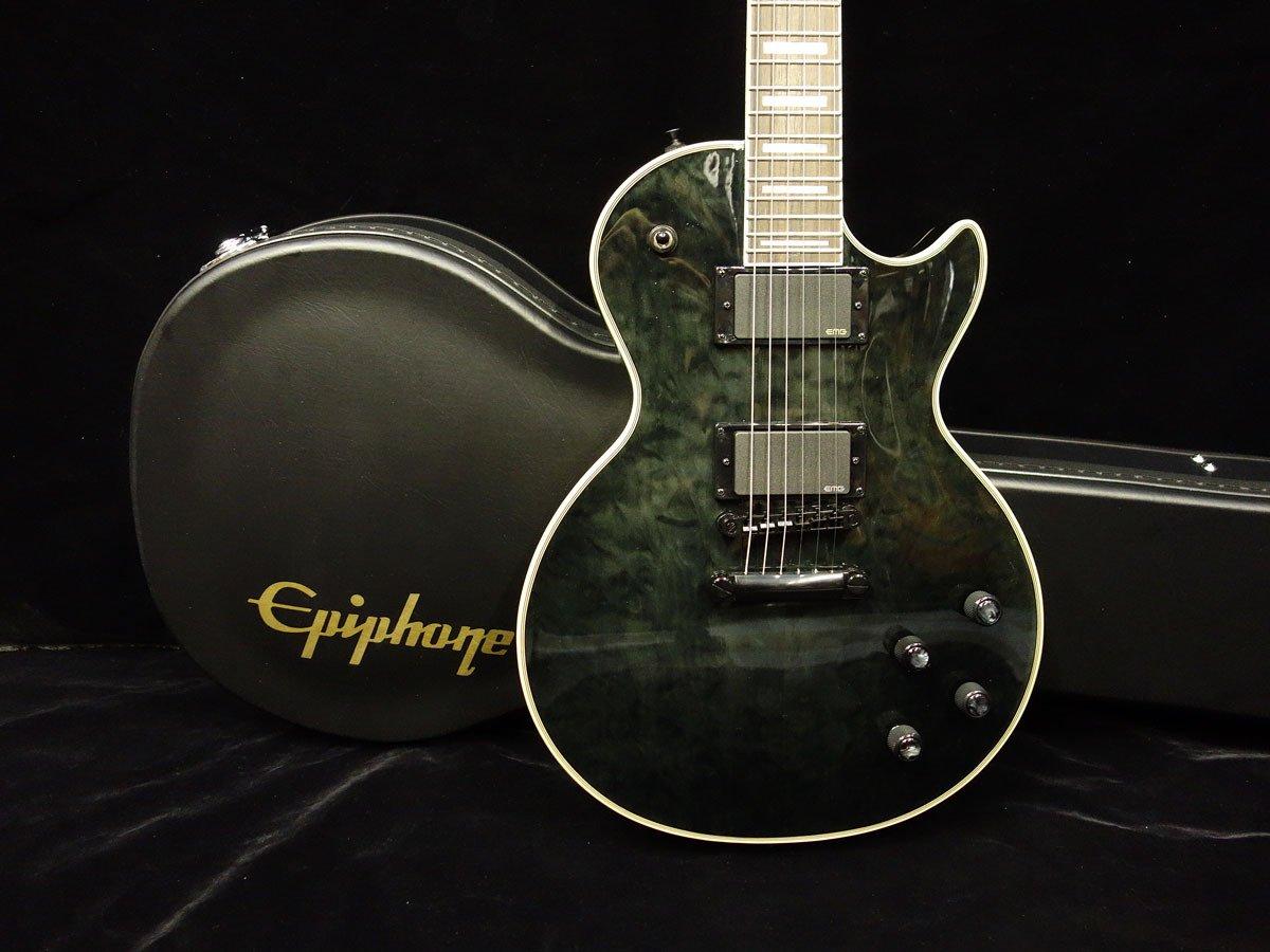 Nueva Profecía Epiphone Les Paul Custom Plus Ex Midnight ébano guitarra eléctrica: Amazon.es: Instrumentos musicales