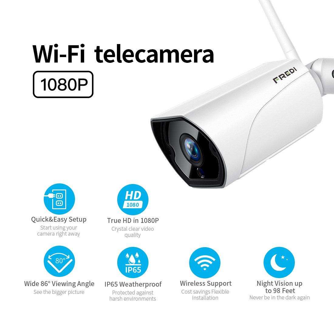 Video Surveillance Strong-Willed Heanworld 1080p Hd Outdoor Bullet Ip Camera Waterproof Cctv Security Camera Support P2p Onvif Mobile Phone View Day And Night Fine Quality Surveillance Cameras