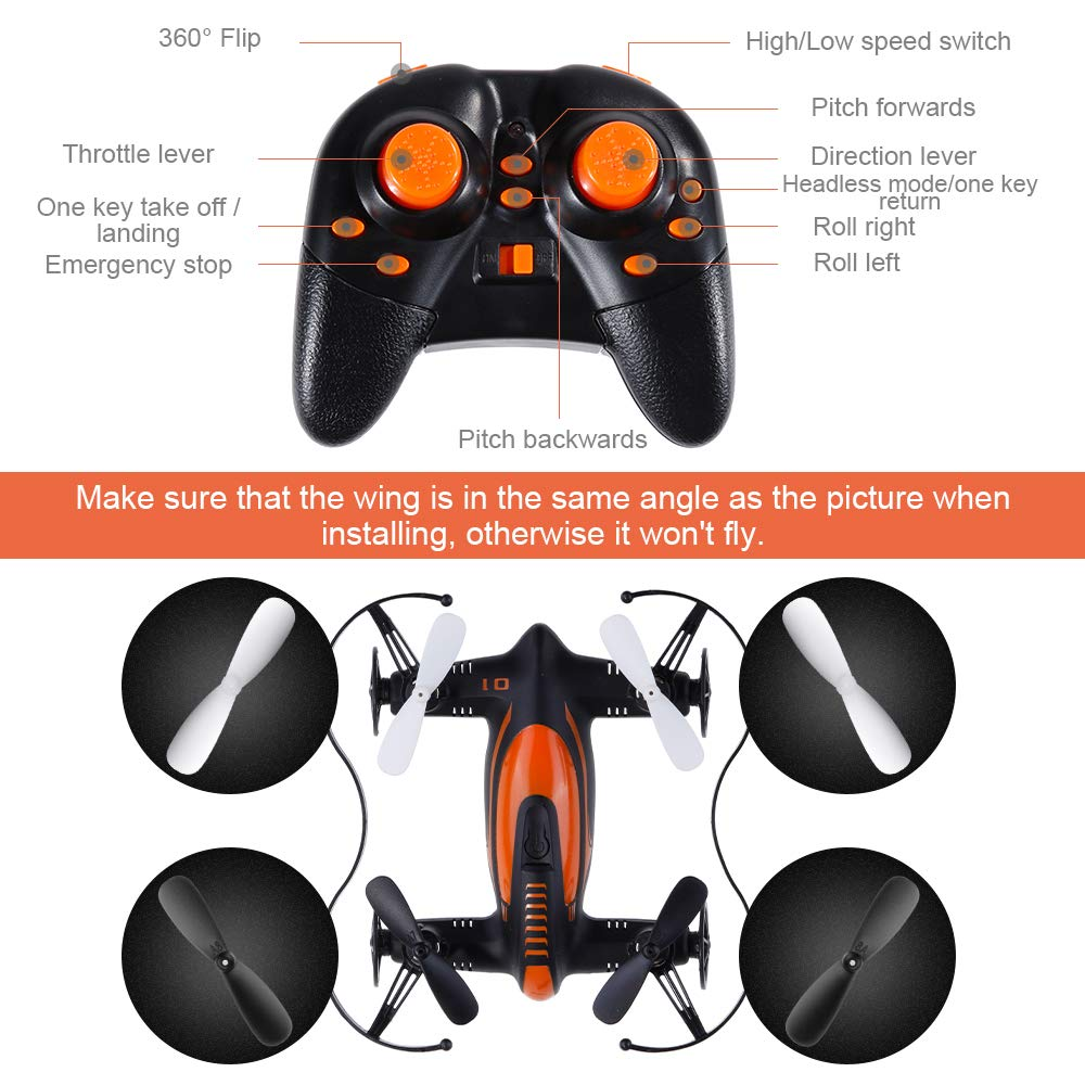 Lictin Kids Mini Drone-2.4G 6 Axis Mini Drone for Kids RC Quadcopter RC Helicopter Plane with Altitude Hold 3D Flips and Headless Mode Easy Fly for Beginners