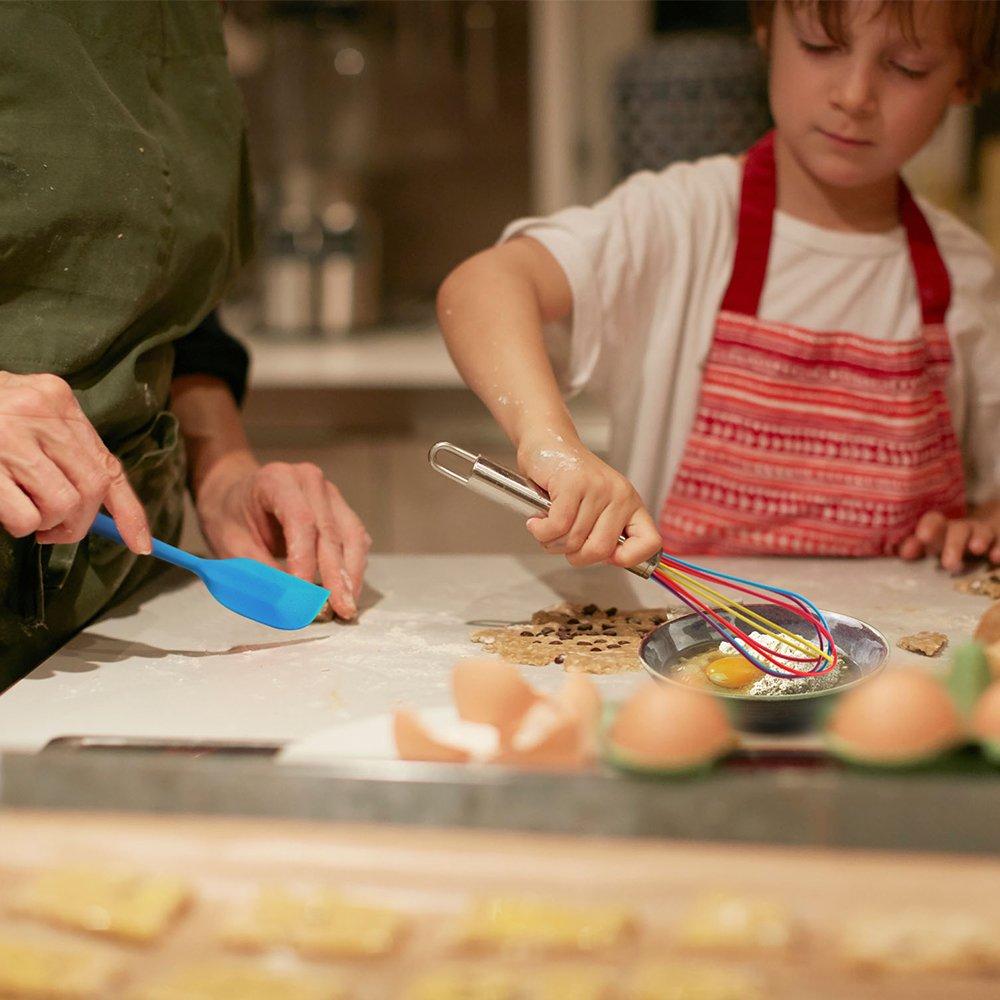 Zange und Pinsel L/öffeln hitzebest/ändig 10-teilig Pfannenwender K/üchenhelfer-Set aus Silikon farbig mit Kochl/öffel Schneebesen