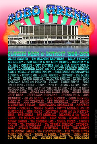 COBO Arena Performers from Alice Cooper to the Yardbirds, 1964-1975 Detroit Concerts Poster 13
