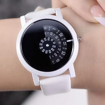 Zxzays Reloj de Pulsera de diseño Creativo cámara Concepto Breve Simple Discos Digitales Especiales Manos Relojes