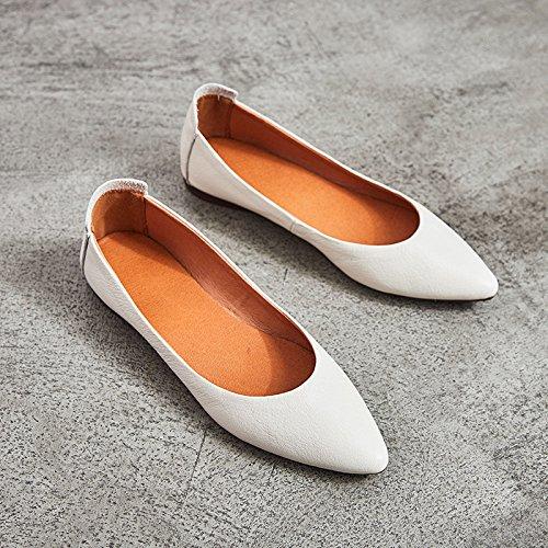 Pour Sbl Noires Chaussures Leather Pdale 39 Femmes Paresseux Plates Camel Pointues xnPYrn6pw