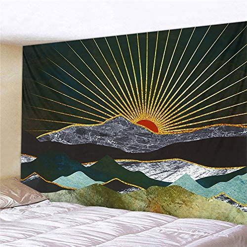 NRANSON Sunrise Mountain Tapestry Wall Hanging Sunshine Hill Nature Landscape Art Tapestry Wall D cor for Living Room Bedroom Dorm 59.05 x 78.74