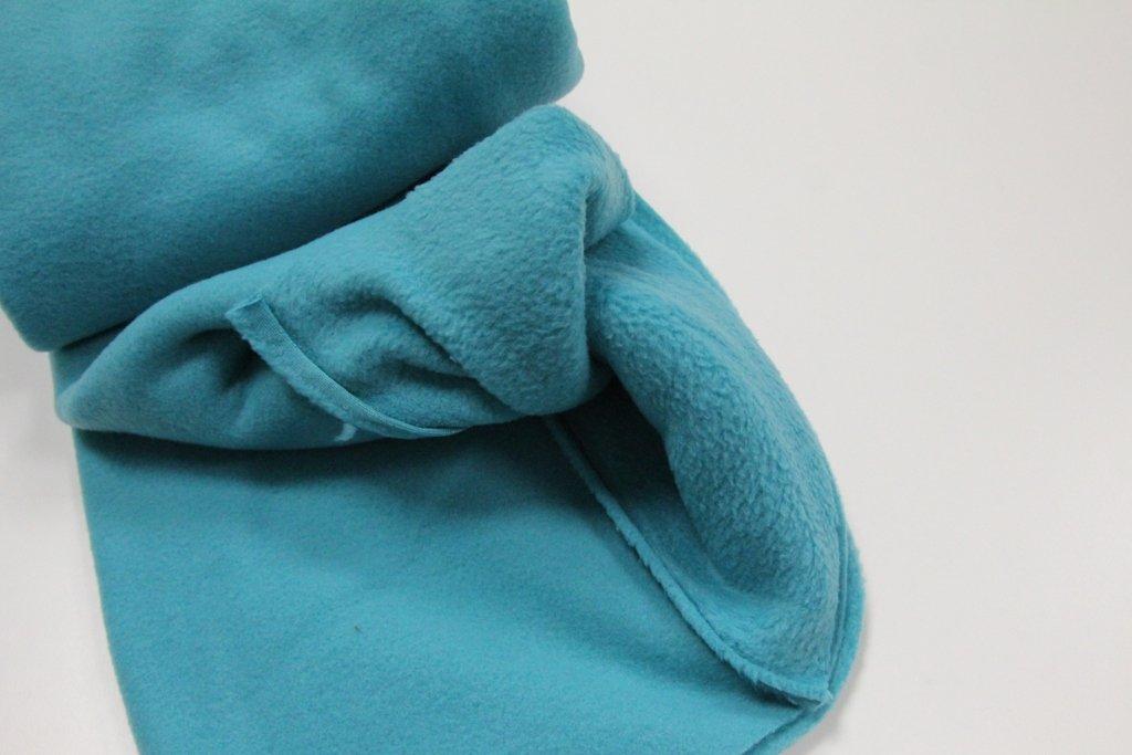 Pinidi 100 x 140 cm Colore: Turchese//Petrolio Tessuto in Pile