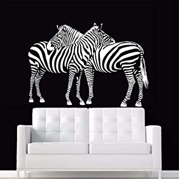 Pegatina de pared de Zebra Calcomanía de Zebre Carteles de ...