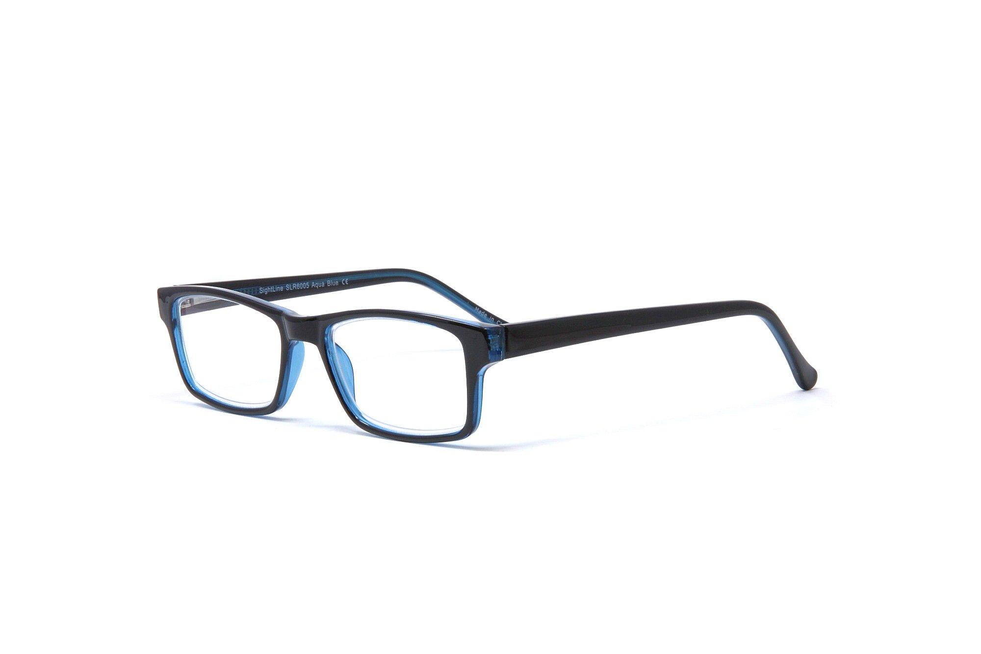 Sightline 6005 Multifocal Reading Glasses Progressive Magnification Lenses with Anti-Glare Coating; Frame Size: 54-15/148