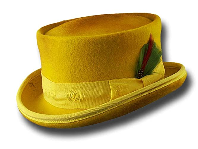 261299c817ddc8 Amazon.com: Western Desert Rat Aged Top Hat Yellow: Handmade