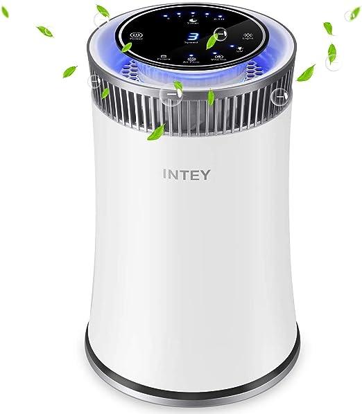 INTEY Purificador de aire Alergia con Filtros HEPA, Purificador ...