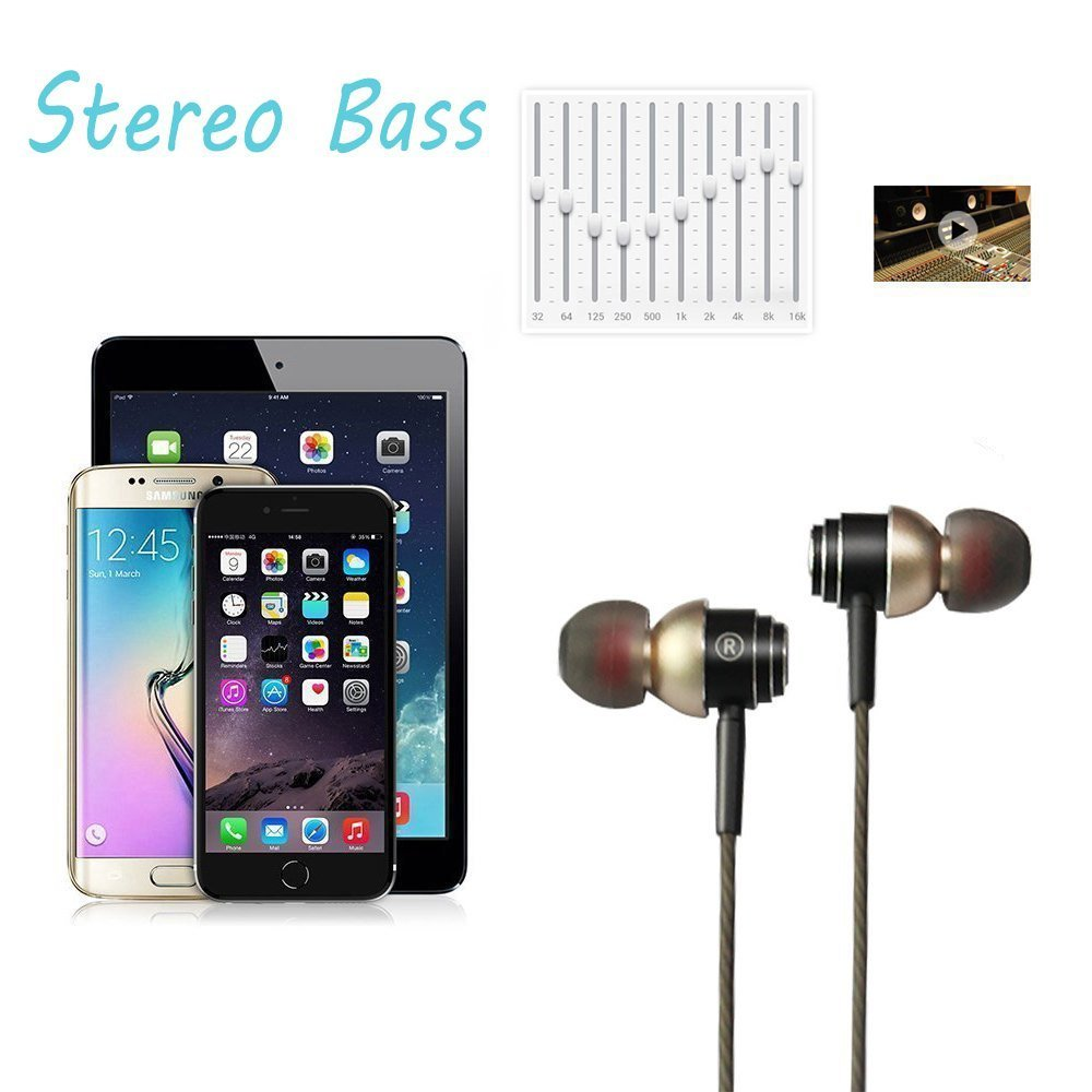 SUPNEW Earphones in Ear Headphones Earbuds with Microphone and Volume Control for iPhone Android Smartphone Tablet Laptop, 3.5mm Audio Plug Devices by SUPNEW (Image #3)