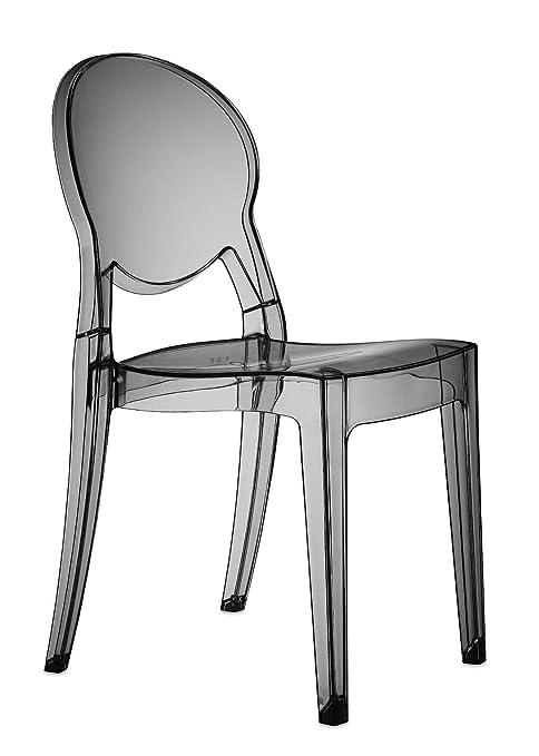 Scab Design Set 4 sedie Igloo Chair Colore Rosso trasparente