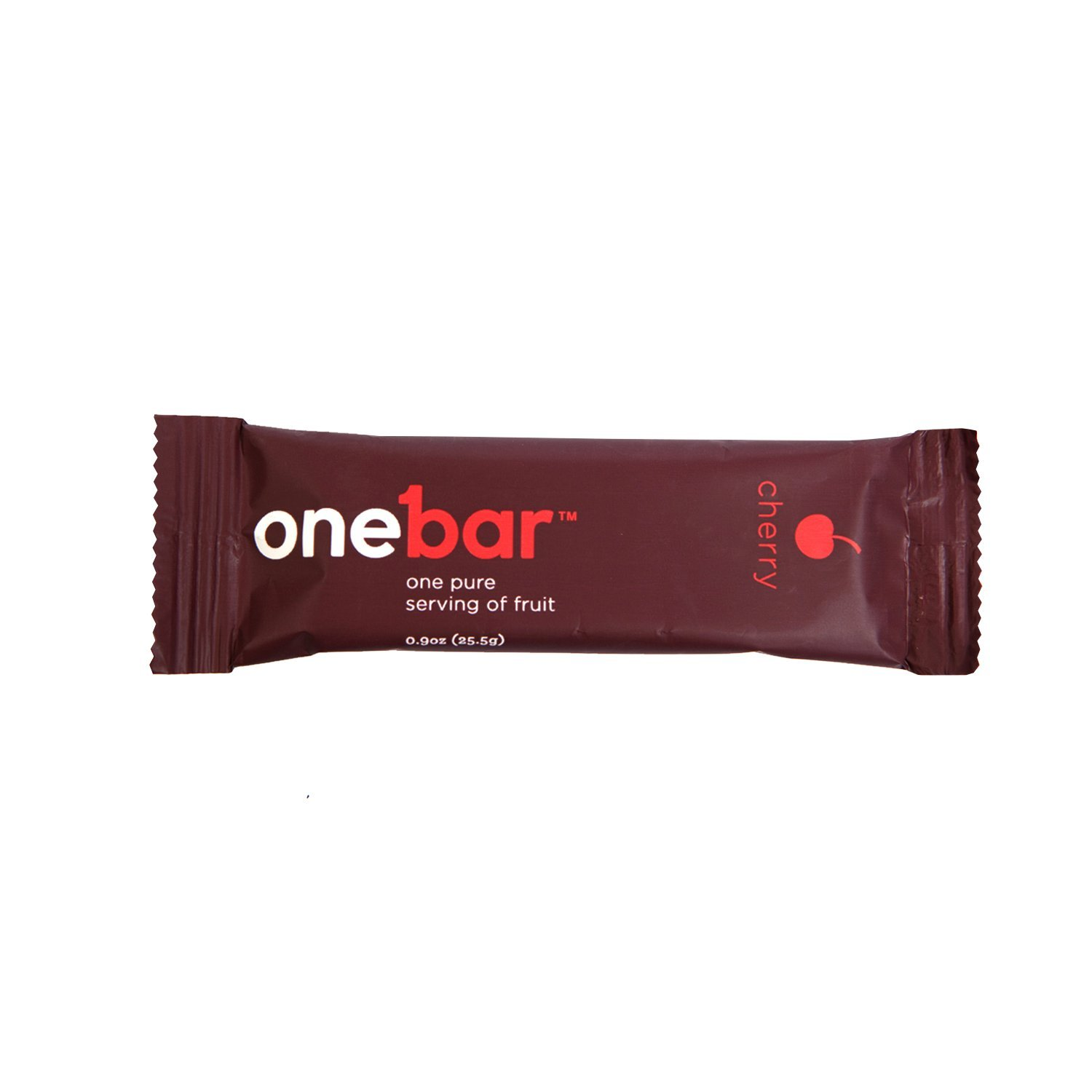 OneBar - One Pure Serving of Fruit. 100% Natural, Gluten Free, Enriched with Baobab - Cherry, 0.9 Ounce (Pack of 12)