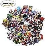 Rapidotzz Superheros Vinyl Stickers for Laptop, Water Bottles, Skateboard and Luggage -Set of 100
