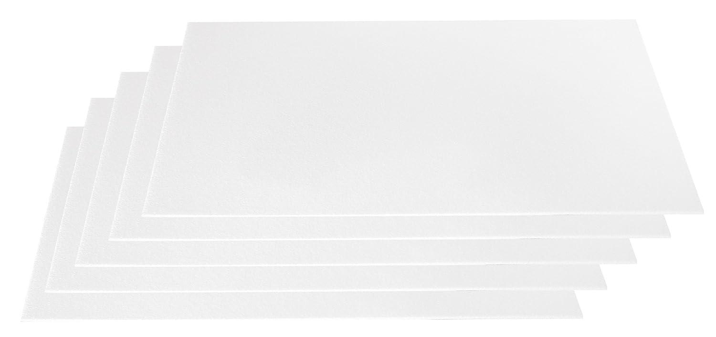 Extrem Styroporplatten dünn (3mm) weiß 5er Set Maße 50x33cm: Amazon.de NH81