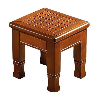 Taburete bajo Taburete de mesa de café Taburete pequeño creativo Taburete for el hogar Asiento de piano Zapatos de moda Banco Sala de estar Hogar Taburete de madera pequeño Taburete de maquillaje Tabu: Hogar