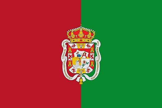 magFlags Bandera XL Ciudad de Granada España Bandera es de Color carmesí y Verde | Bandera Paisaje | 2.16m² | 120x180cm: Amazon.es: Jardín