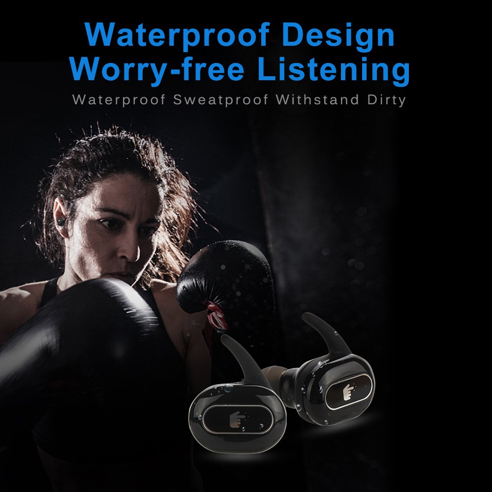 Mbuynow in-Ear Kopfhörer mit Ladebox Wireless TWS Dual Bluetooth Kopfhörer Touch Steuerung Stereo Bluetooth Headset
