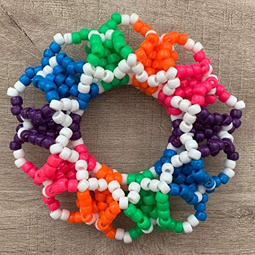 Pony Beads Kit 3640pcs 24 Colors Jewelry Making Tool Bead Craft Kit Set Seed Letter Alphabet DIY Art for Bracelet,Hair Beads,Kids Adults