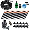 "Koram 360 degree Micro Sprayer and Dripper on Stake Irrigation Gardener's Greenhouse Plant lawn Watering Drip Kit Accessories with 50ft 1/4"" Blank Distribution Tubing Hose IR-I"