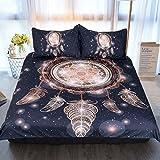 Sleepwish Gold Dream Catcher Bedding Set Boho Dreamcatcher Duvet Cover Tribal Print Bedding Black and Gold Bed Set (Twin)