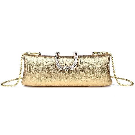KELUOSI pochette da matrimonio pochette lusso borsa da cerimonia clutch festa borsetta cocktail (oro)