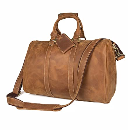 c7a8975e9d Jxth Casual Lightweight Holdall Leather Retro Men s Bag Crazy Horse Leather  Men s Casual Tote Men s Shoulder