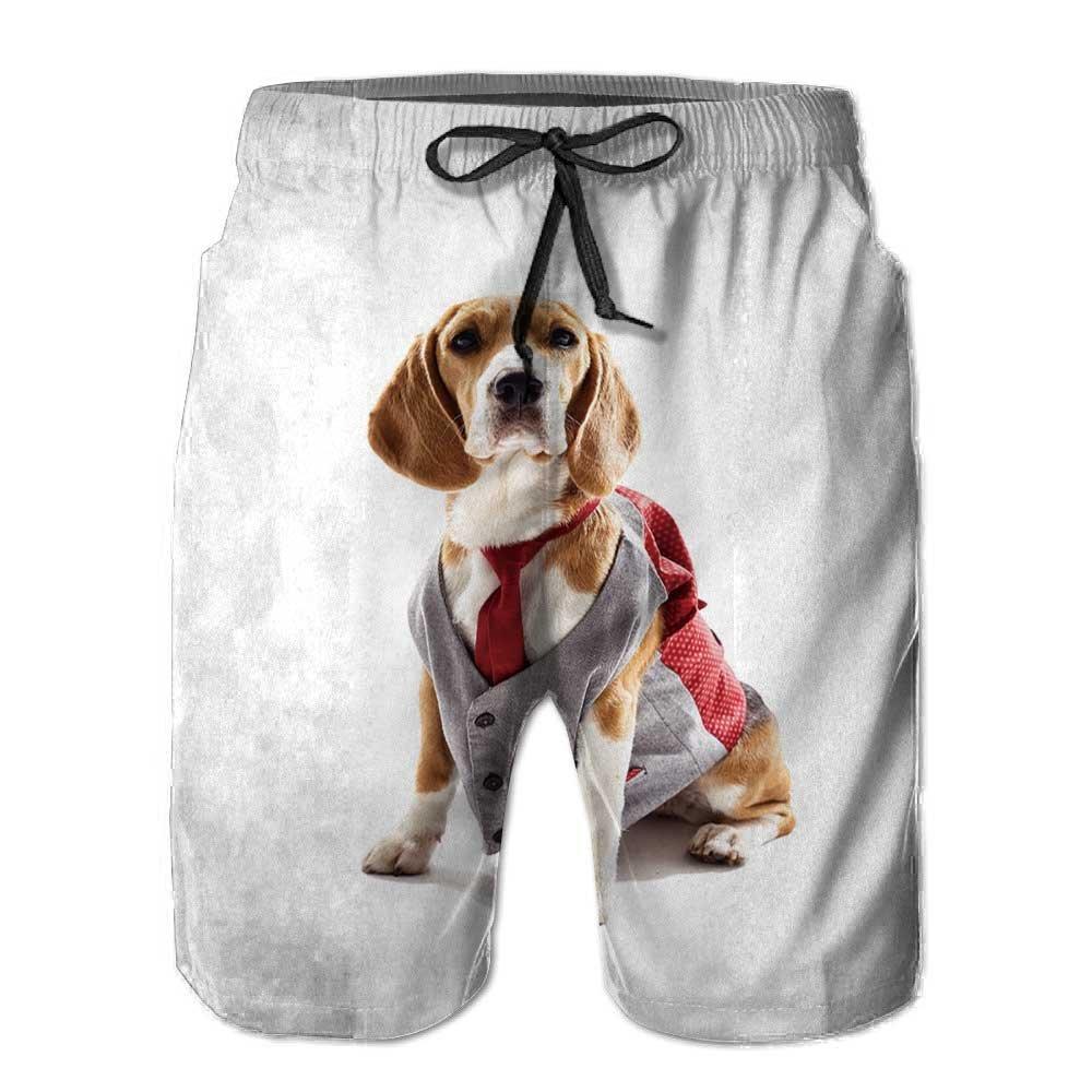 PRUNUS Big BoysThrottled Boardshorts,Serious Business Dog in Elegant Shorts