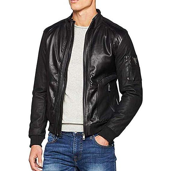 Guess Giubbotti Mesh-up Eco Leather, Chaqueta Deportiva para Hombre: Amazon.es: Ropa y accesorios