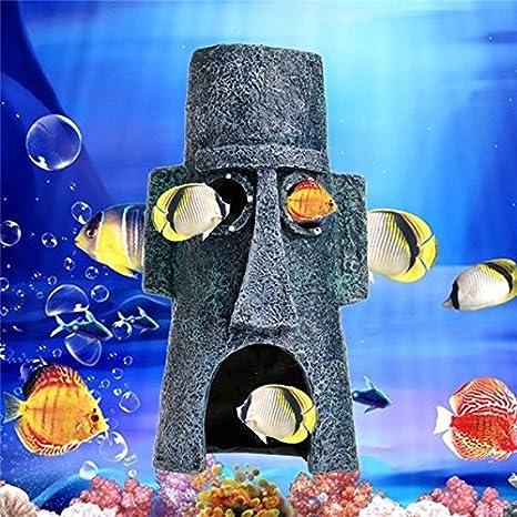 Paleo Decoración de paisajismo acuario animales acuáticos adorno casa casero pecera: Amazon.es: Hogar