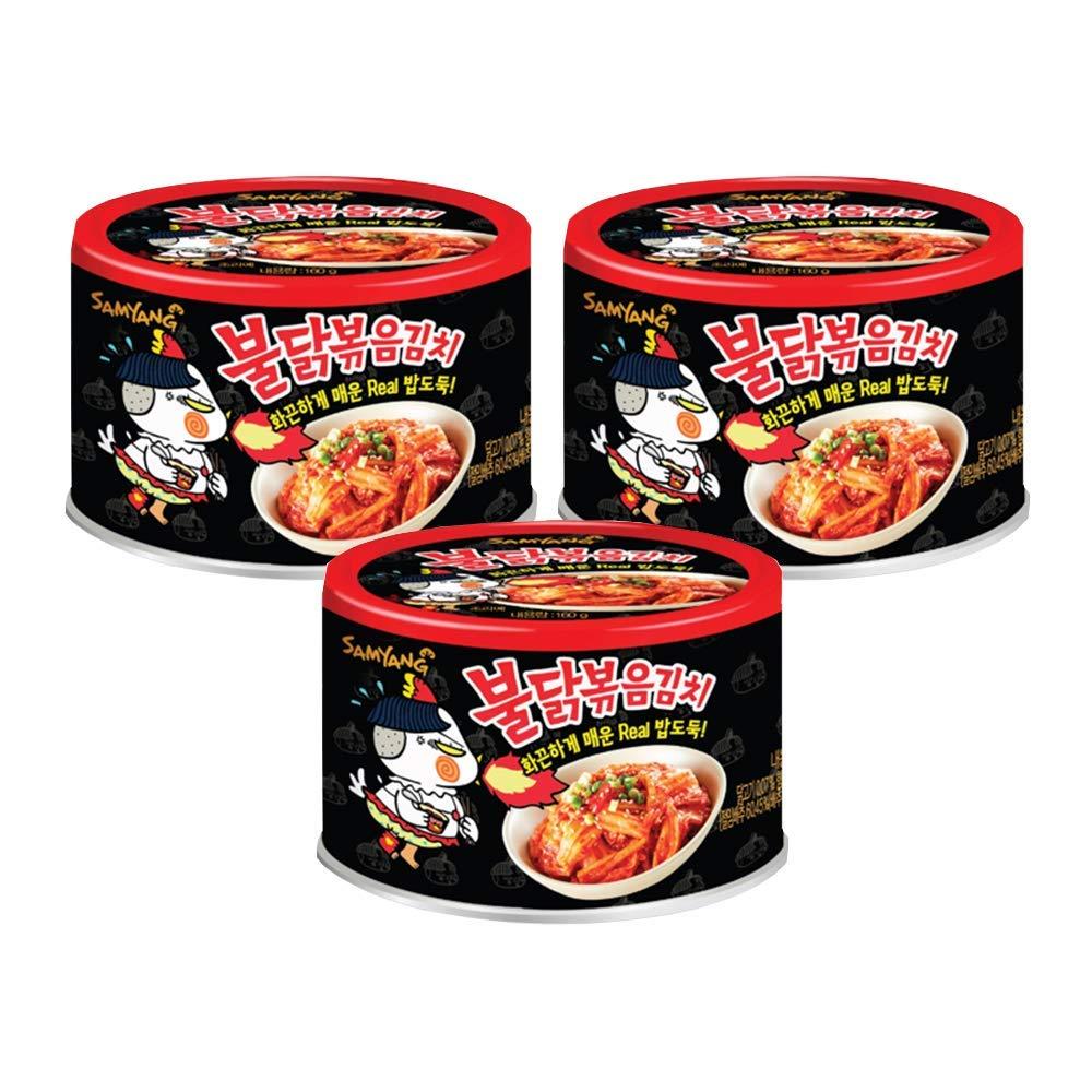 [Samyang] Bulldark Spicy Chicken Roasted Kimchi Can (3Can) / Canned Kimchi / Korean Kimchi / Hot Spicy Kimchi (overseas direct shipment)