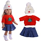 a762c928c3d7 Momola Our Generation 18 inch American Girl Doll Christmas Clothing Set  3Pcs Cute Sweater +…