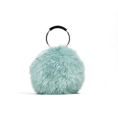 ab1ebc4228 Amazon.com  ARPIMALA NEW Women Faux Fur Handbags Luxury Designer Evening Bag  Famous Brand Fur Clutch Bag Circle Party Bag Ladies Hand Bags blue  Shoes