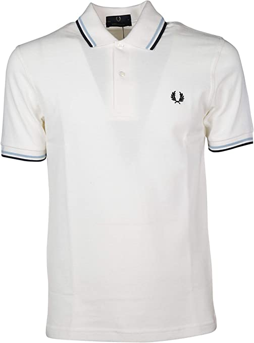Fred Perry Luxury Fashion Hombre FPM1225300 Blanco Polo ...