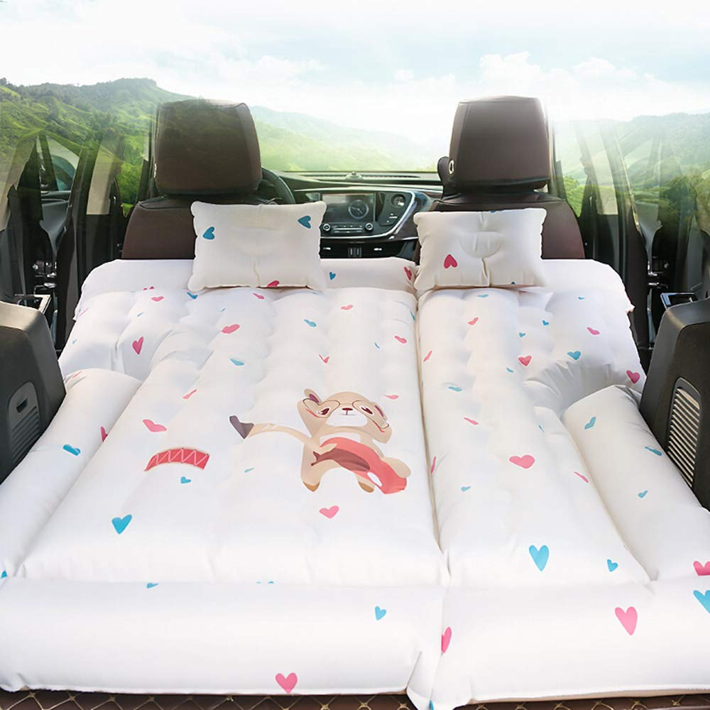 OLDF Kinder-Kinder-Kinder-Bettkissen, Luftbettkissen mit Zwei Luft-Kissen Luft-Pumpen-Reise Schlaf Rest für SUVs, RVs und Minivans