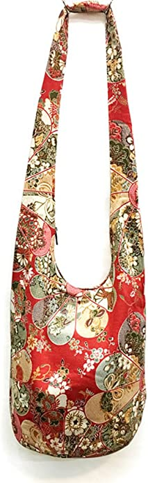 medium crossbody bag flower gypsy bag red-maroon bag Indian saree bag hand woven bag upcycled bag Silver bag bohemian bag boho bag