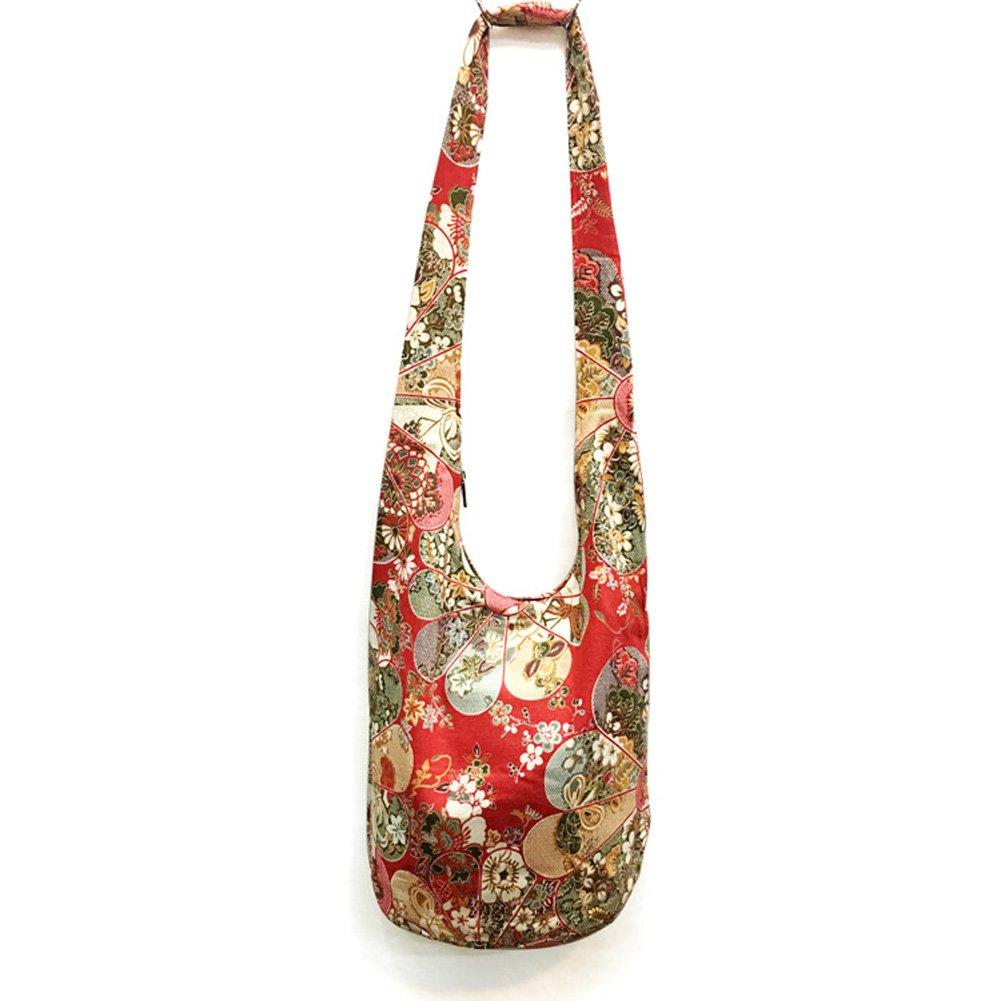 a2a1bd107088 KARRESLY Bohemian Cotton Hippie Crossbody Bag Hobo Sling Bag Handmade  Messenger Shoulder Bags