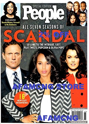 2  Off People Magazine 2018 Seven Seasons  Afamncg  Olivia Pope Kerry Washington Scandal